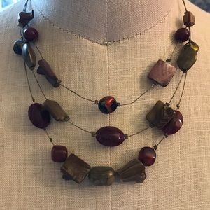 Beautiful layered gold beaded necklace